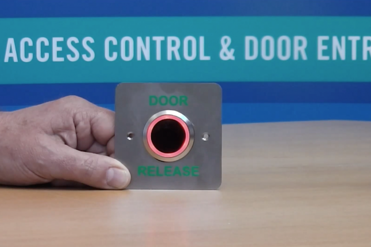 Touch Free Exit Button for Access Control Systems